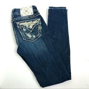 Miss Me Skinny Jeans Rhinestone Wings Distressed